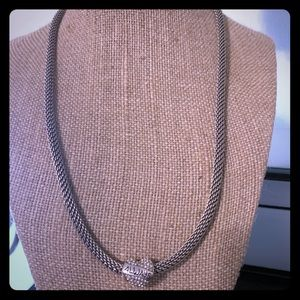 Brighton Beverly Glam Mesh Necklace & Charm